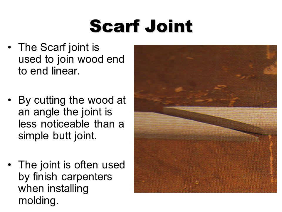Chair Rail Scarf Joint Part - 36: 10 Scarf ...