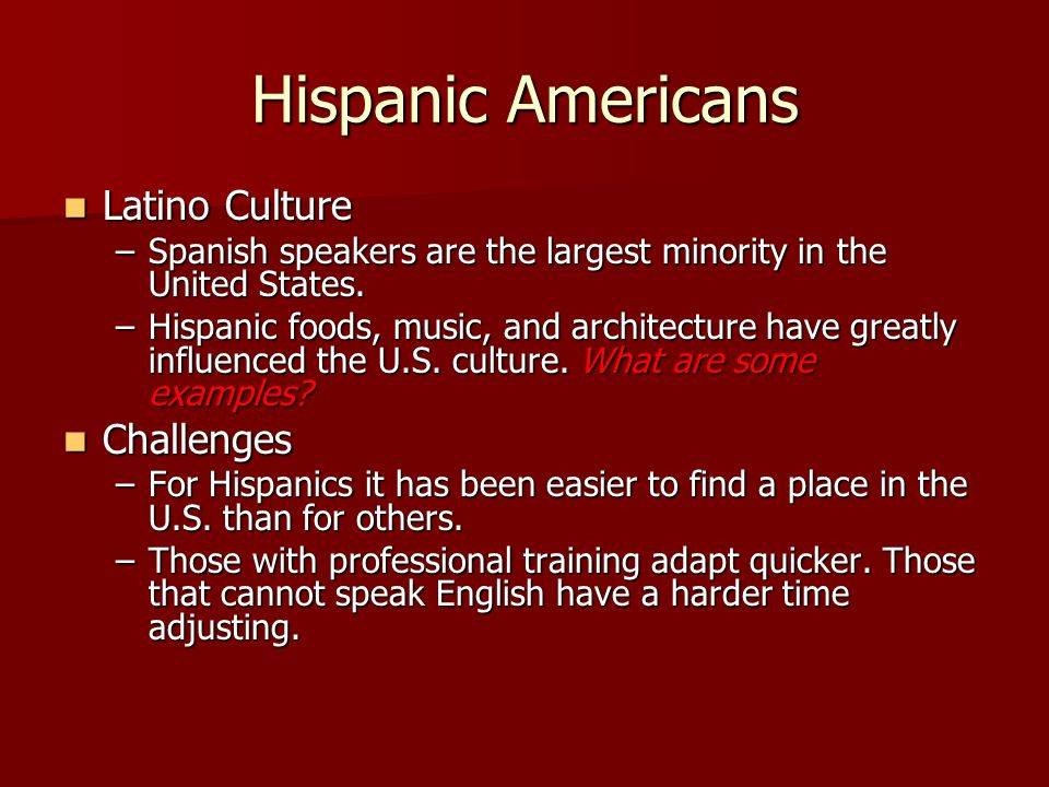 the hispanic culture and how it More than eight-in-ten (82%) latino adults say they speak spanish, and  most  hispanics do not see a shared common culture among us.