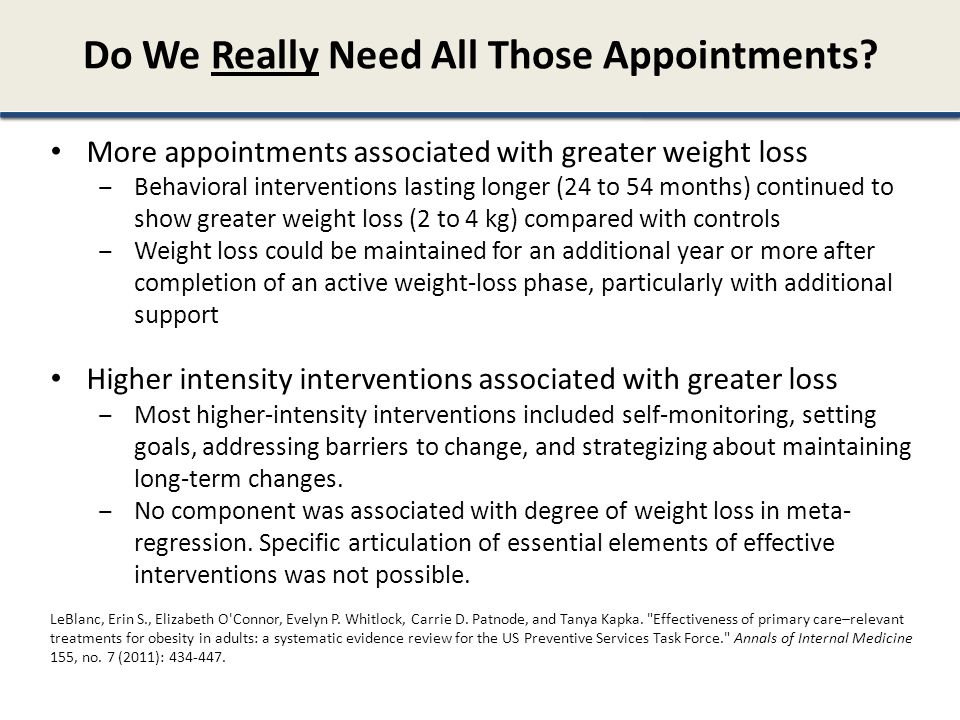 Do We Really Need All Those Appointments