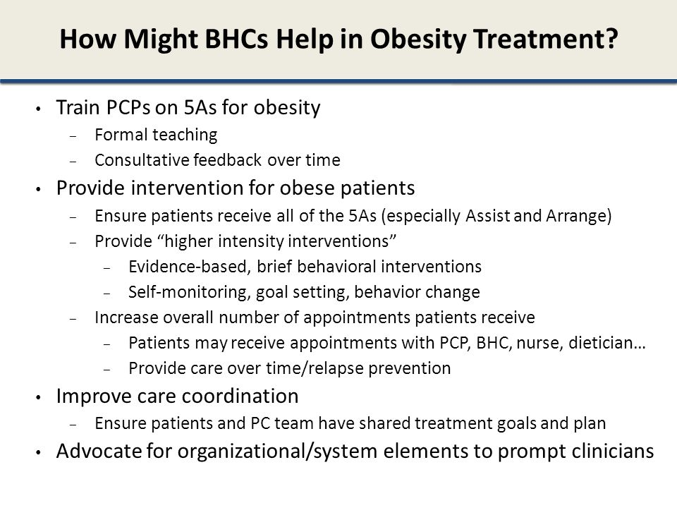 How Might BHCs Help in Obesity Treatment