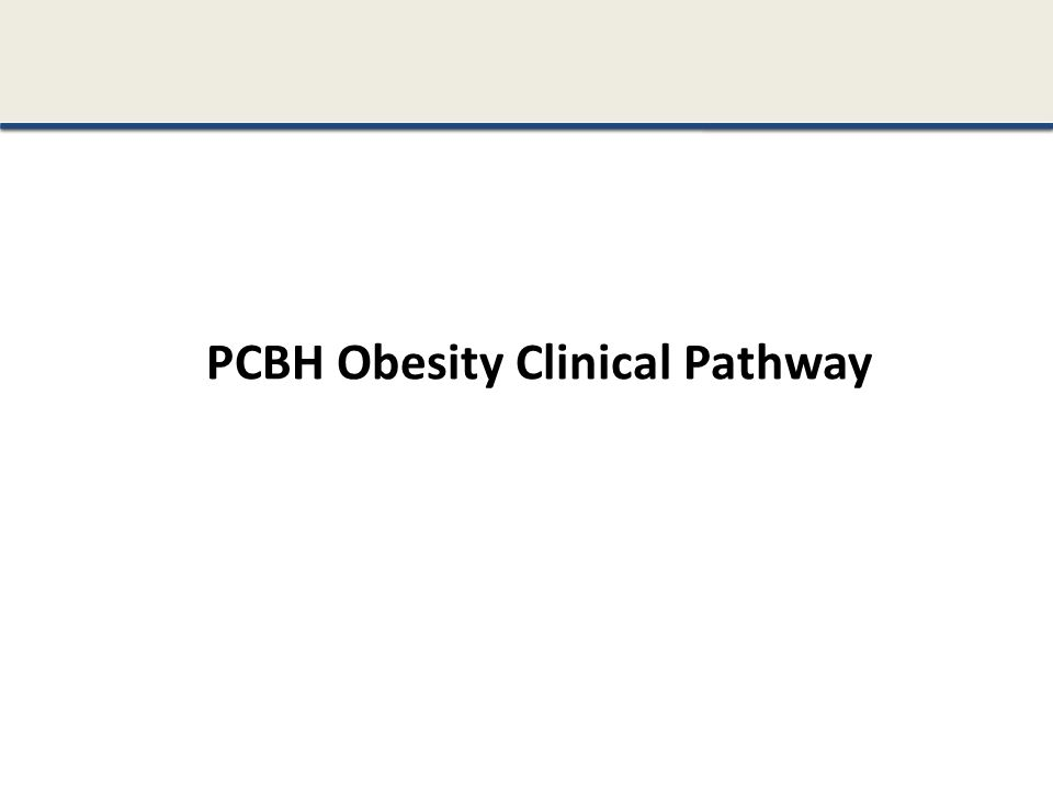 PCBH Obesity Clinical Pathway