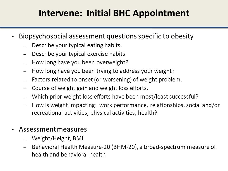 Intervene: Initial BHC Appointment