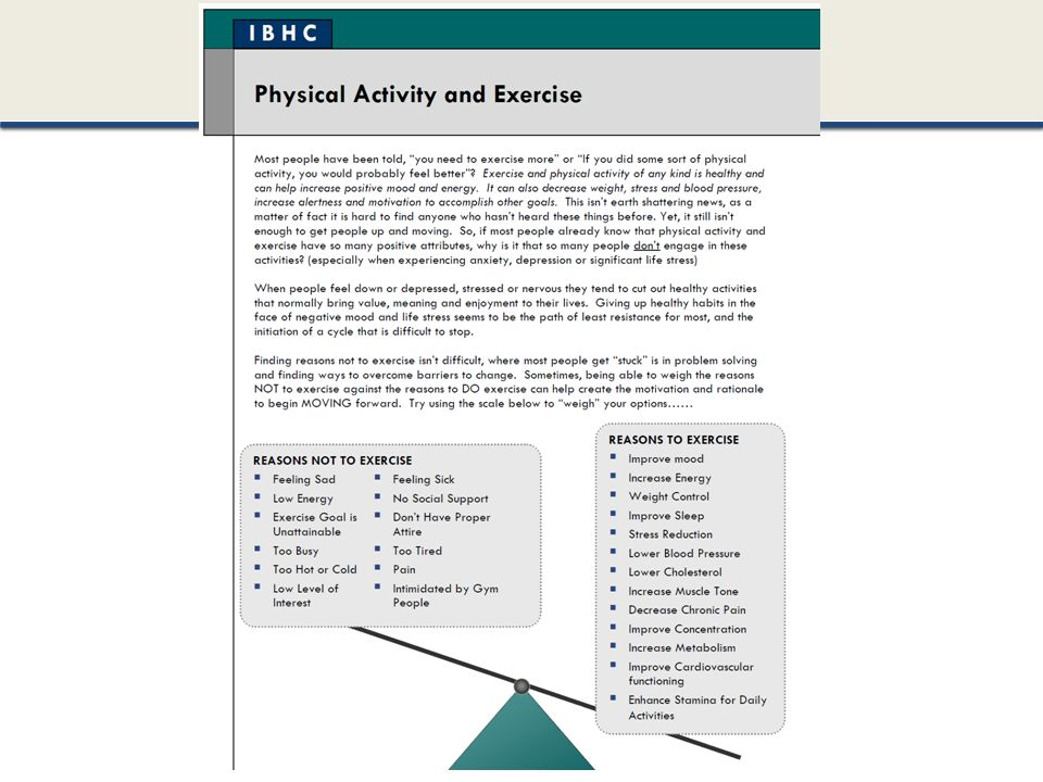 Example of a patient handout from obesity handout