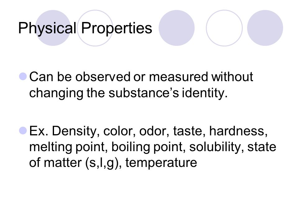 Physical Property Can Be Observed