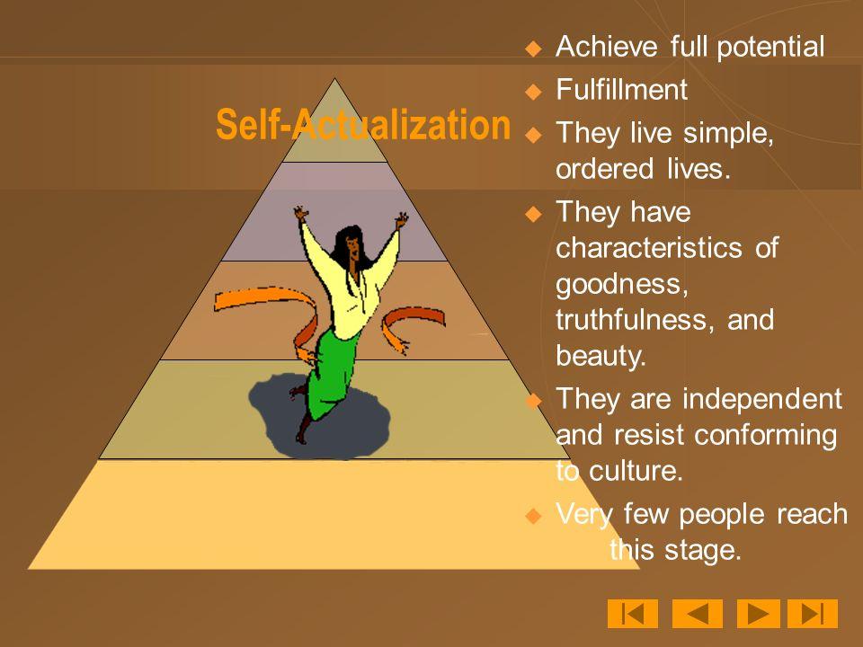 Self-Actualization Achieve full potential Fulfillment