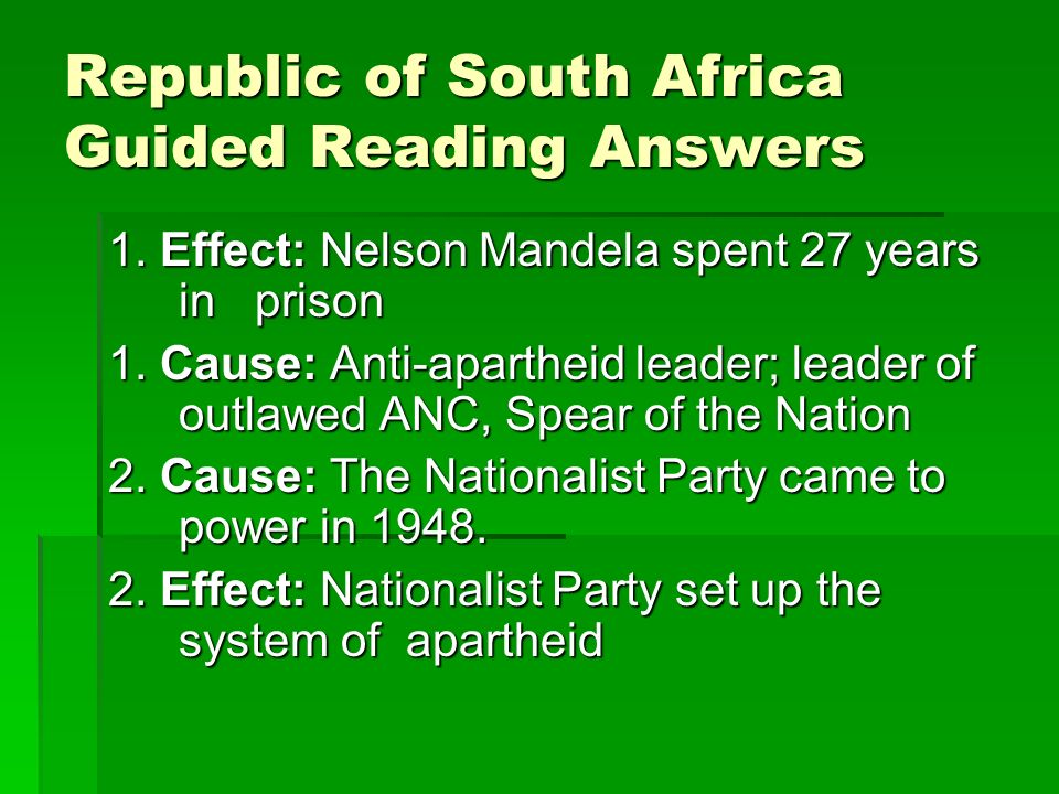 effects of charismatic leadership nelson mandela Lenin and mao tse-tung to barack obama, remind us of the effect one or a small   transformational political leaders: f w de klerk in south africa and pim   announcing the unconditional release of famed political prisoner nelson  mandela.