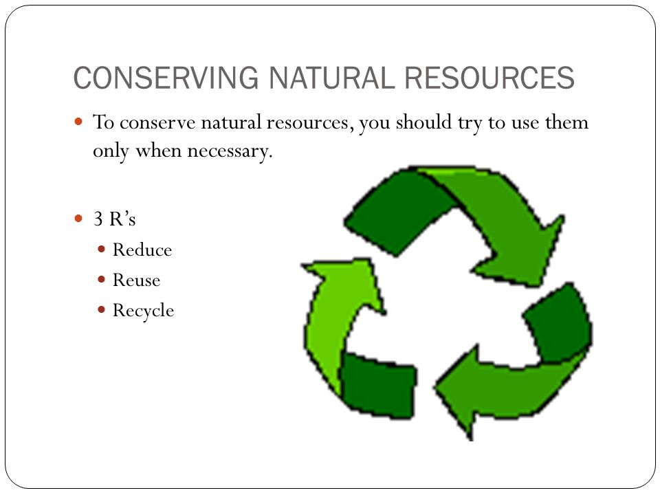 reduction of natural resources essay