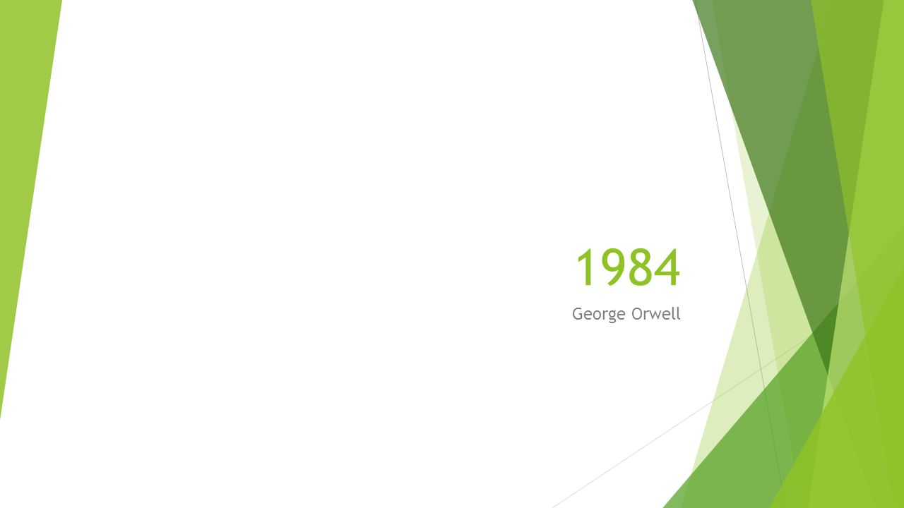 1984 George Orwell Ppt Video Online Download