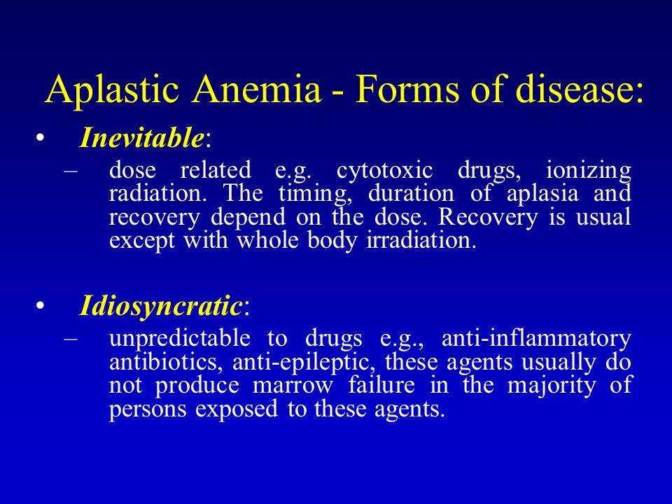aplastic anemia narrative report