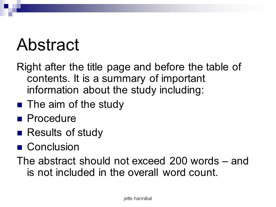 how to add abstract in table of contents word