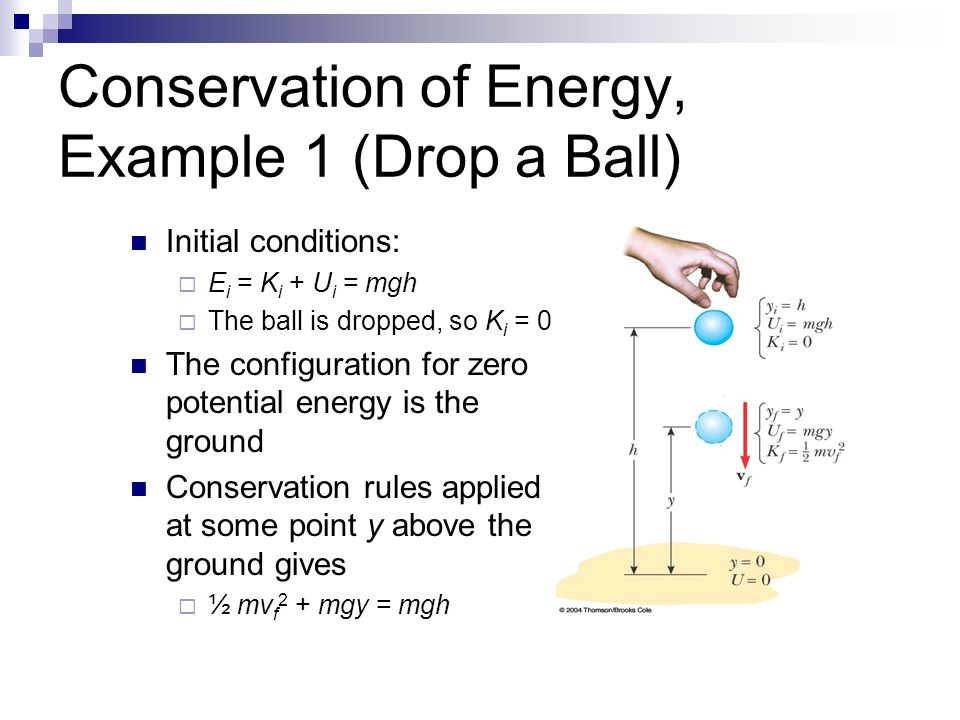 Potential energy march 1 ppt download for Facts about energy conservation