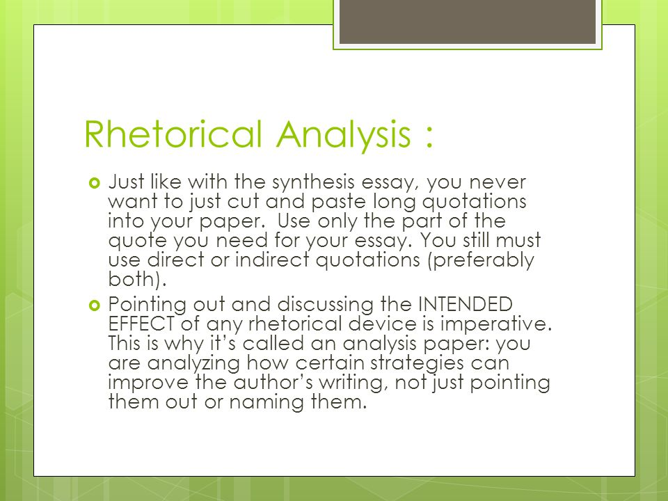 rhetorical analysis of the things they