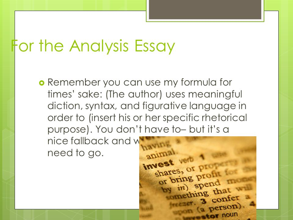 the analysis essay ppt  for the analysis essay
