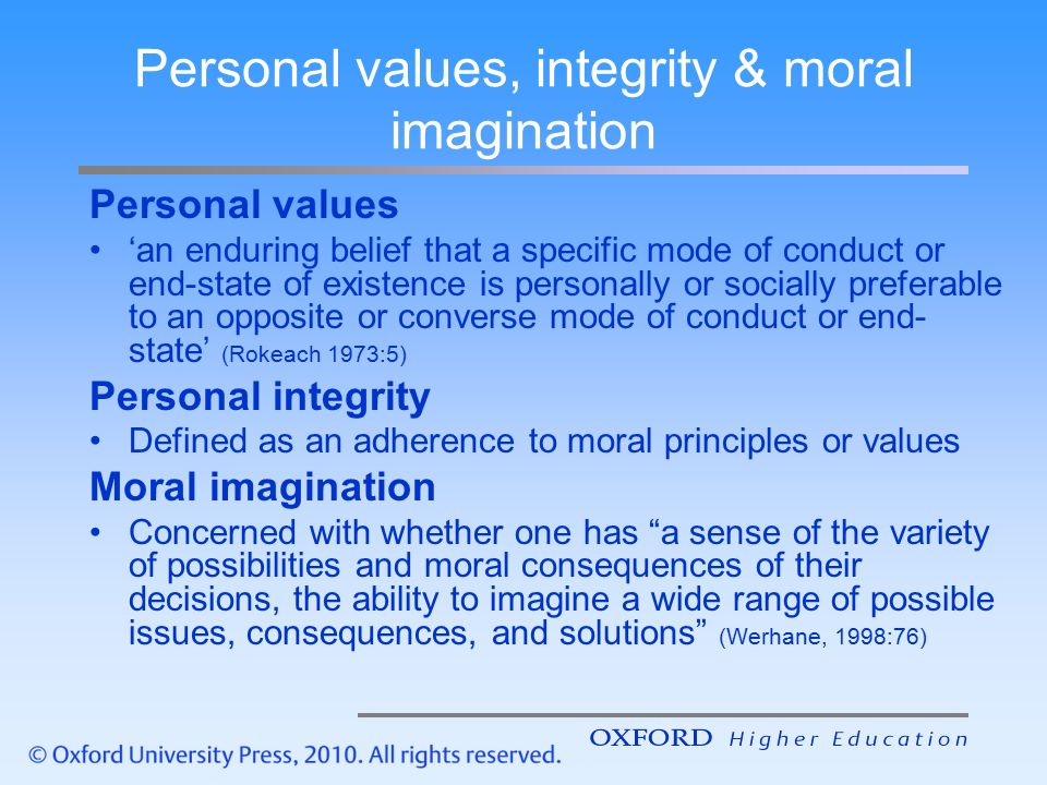 to maintain moral integrity in professional decision making Promotes sound scientific principles, integrity and reflects positively on the  profession,  report apparent violations of applicable professional organizations ' ethical  with objective and independent professional judgment in decision- making  maintain and respect the confidentiality of sensitive information  obtained in.
