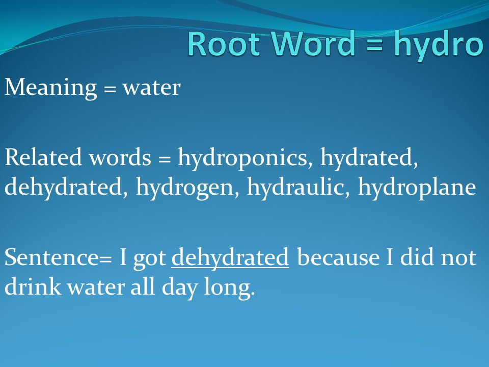 how to find root words in english