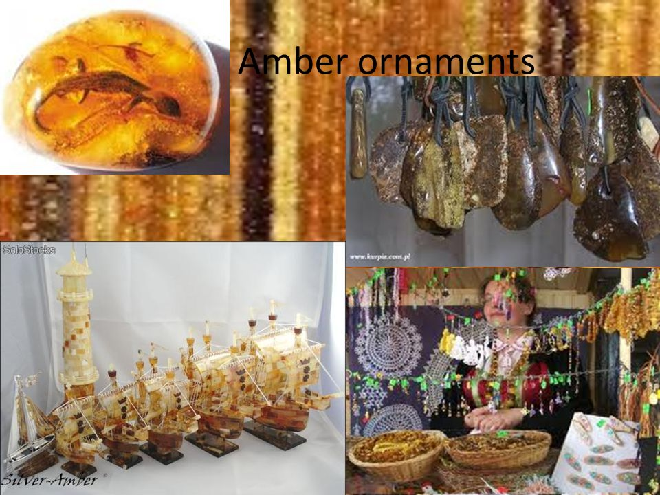 Amber ornaments