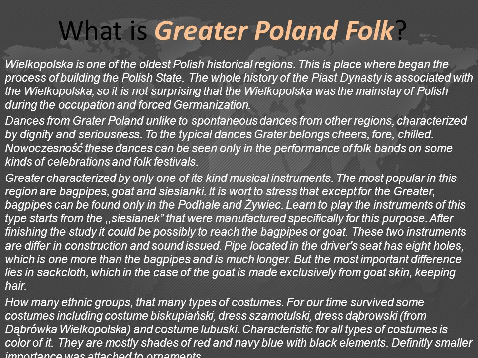 What is Greater Poland Folk
