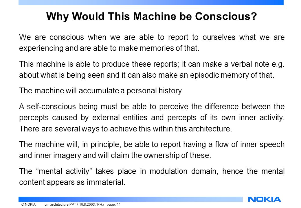 machines can be conscious A machine that can read and write characters one at a time to a ticker tape and consult a look up table is a complete turing machine it can do everything a computer can do, although not as quickly it can do everything a computer can do, although not as quickly.
