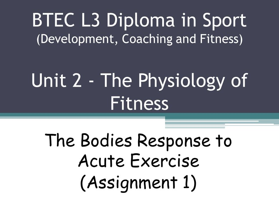 the body s response to acute exercise During exercise, the muscles of the body require more energy and more oxygen than they do at rest cardiovascular system response to exercise by amy dixon.