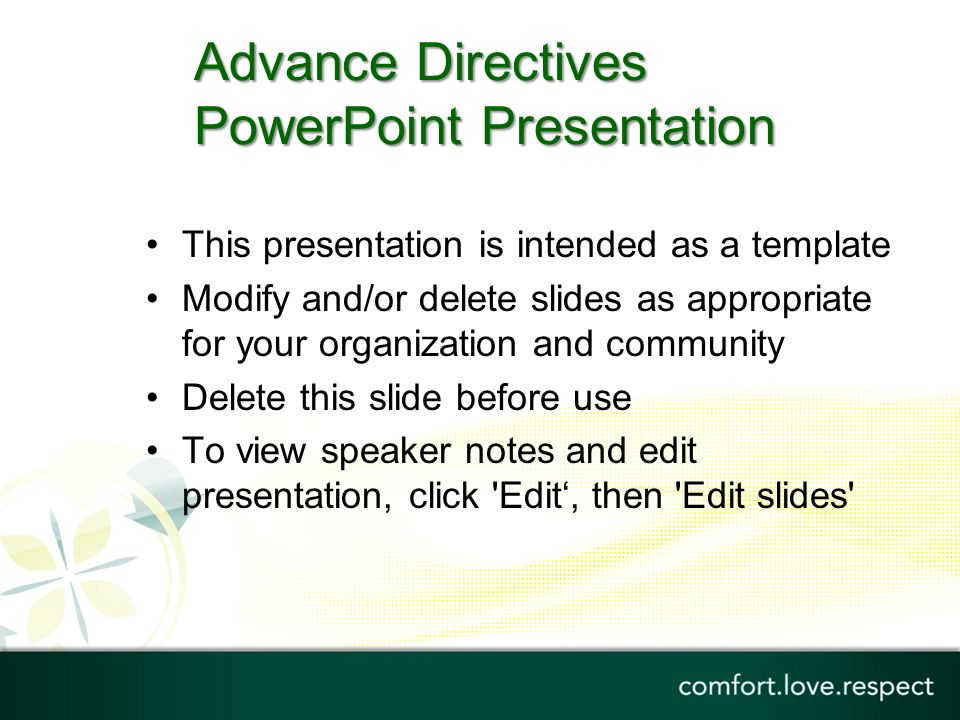 advance care plan template - advance directives powerpoint presentation ppt download