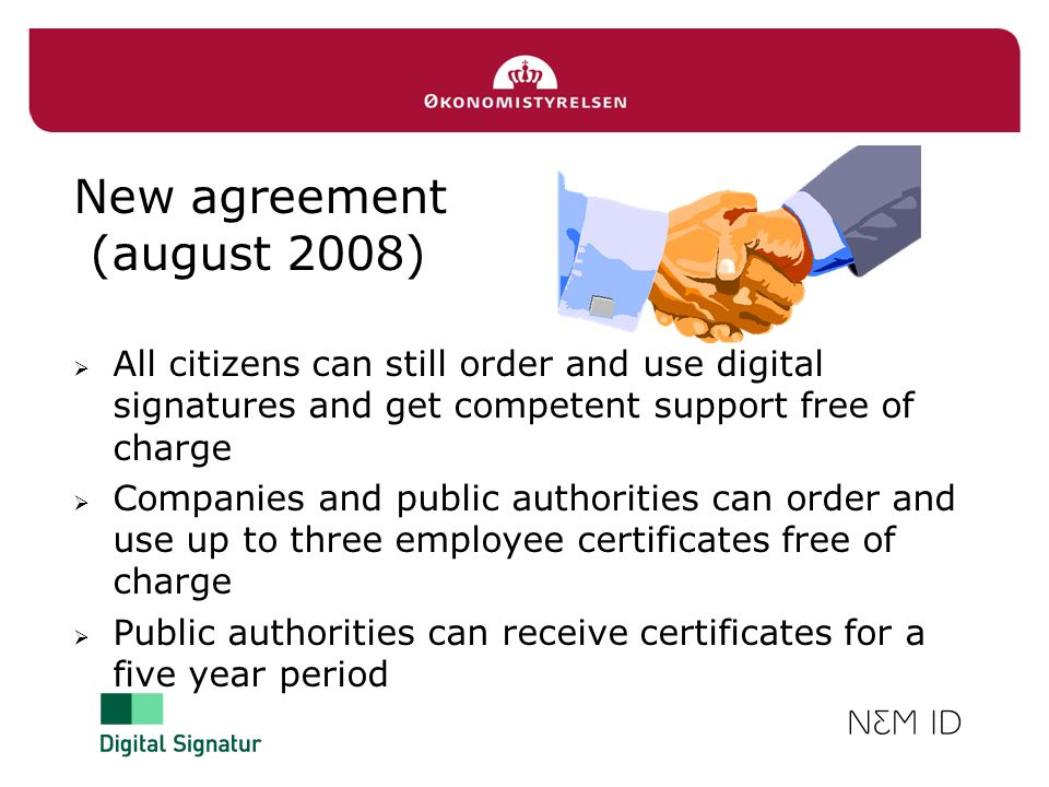 New agreement (august 2008)