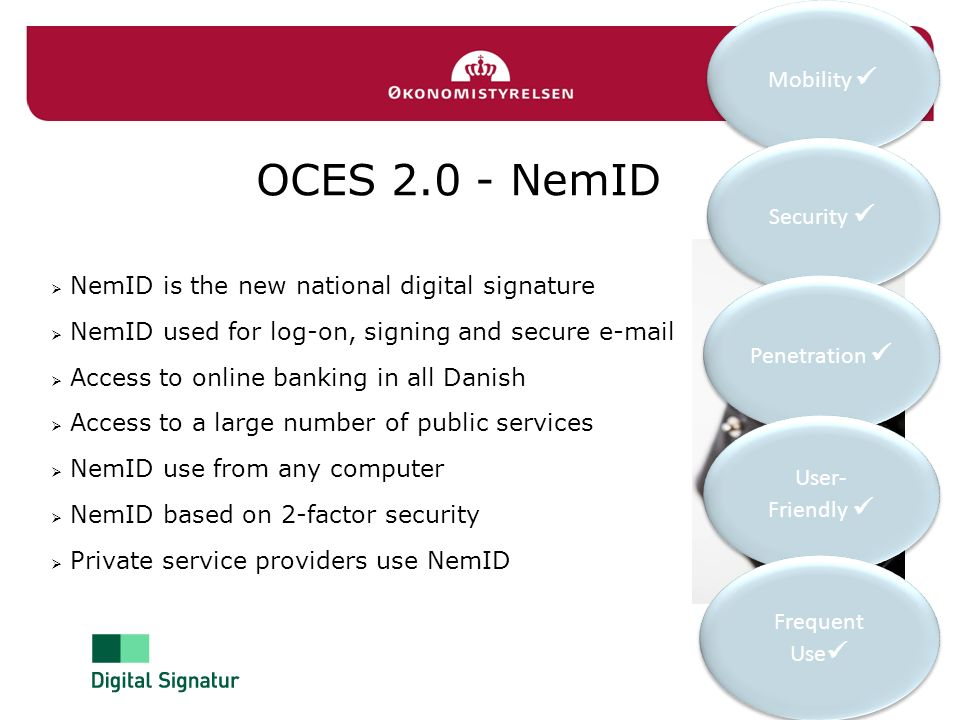 OCES 2.0 - NemID Mobility  Security 