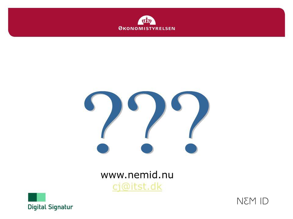 www.nemid.nu cj@itst.dk