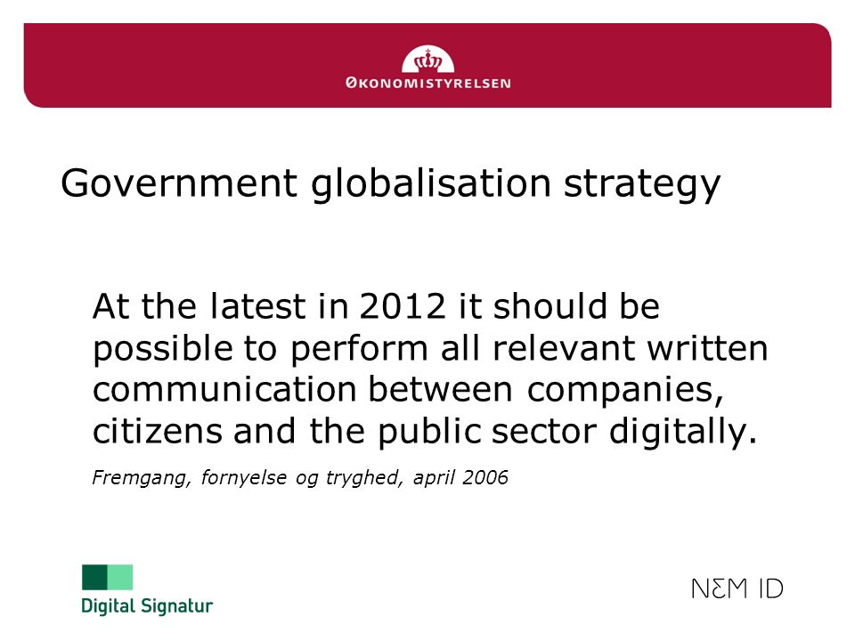 Government globalisation strategy