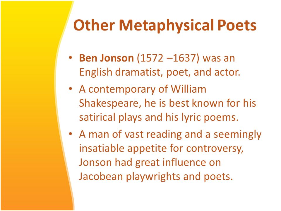 metaphysical poems Get an answer for 'what is metaphysical poetry' and find homework help for other john donne questions at enotes.