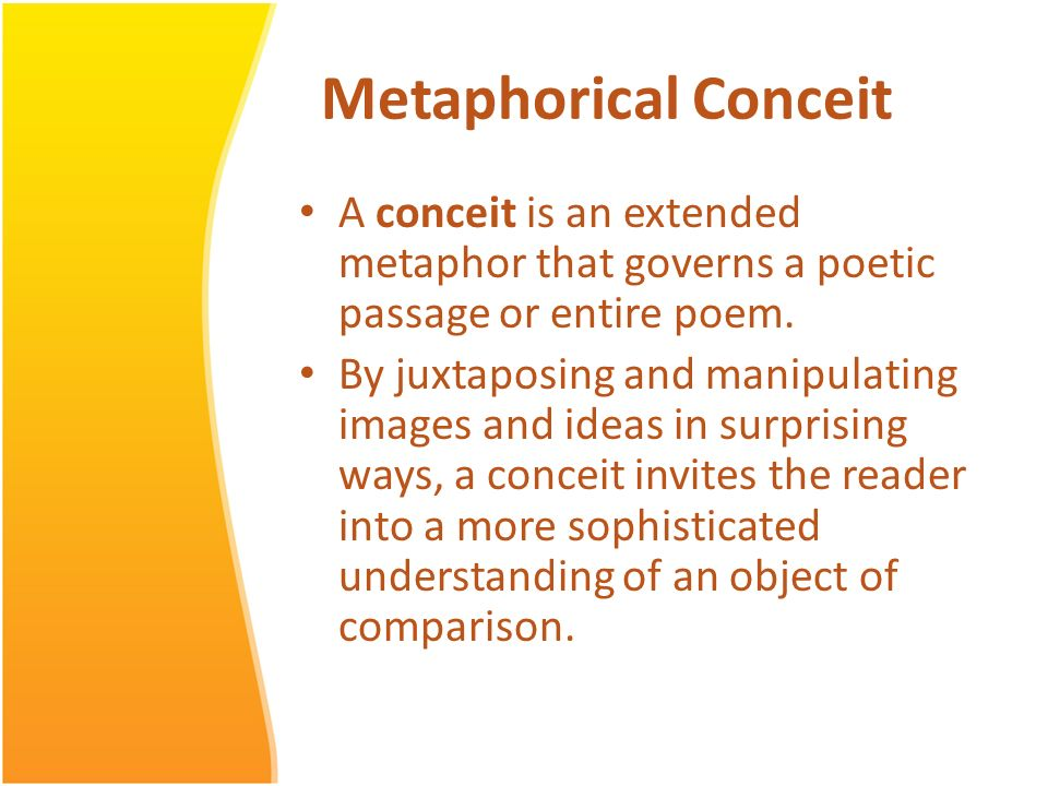 What is a conceit in poetry