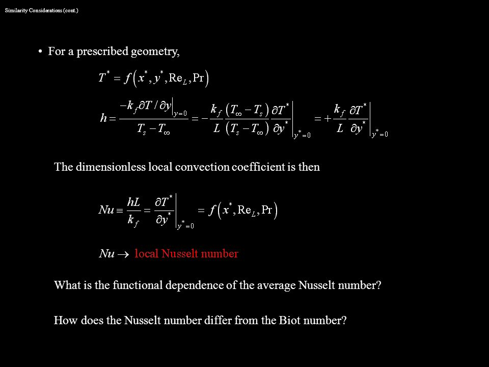 Similarity Considerations (cont.)