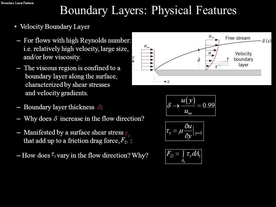 Boundary Layer Features