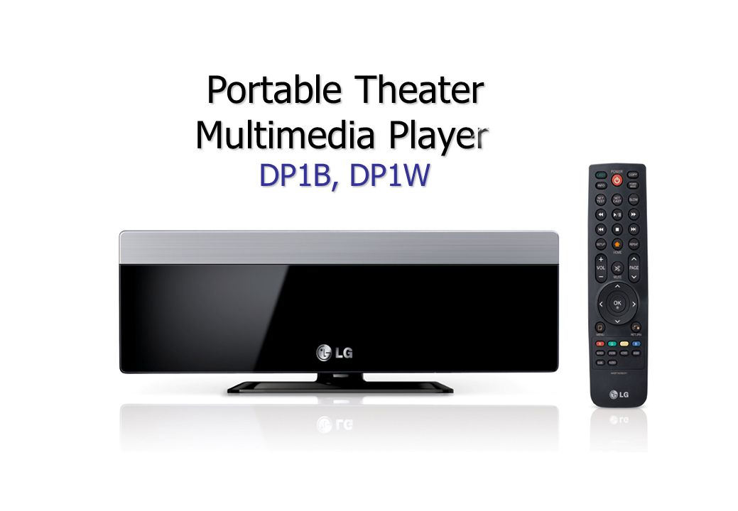 Portable Theater Multimedia Player DP1B, DP1W