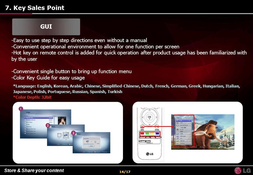7. Key Sales Point GUI. Easy to use step by step directions even without a manual.