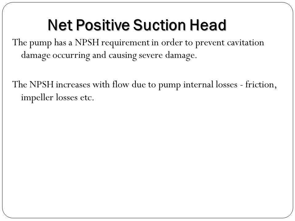Net Positive Suction Head