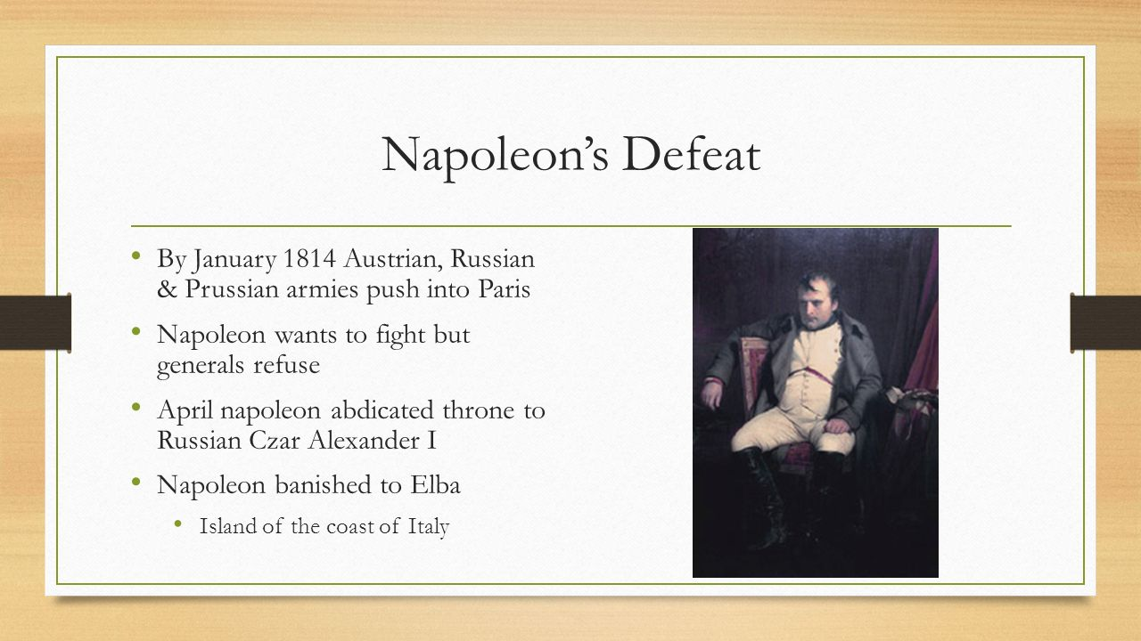 The rise fall of napoleon ppt video online download 34 napoleons robcynllc Image collections