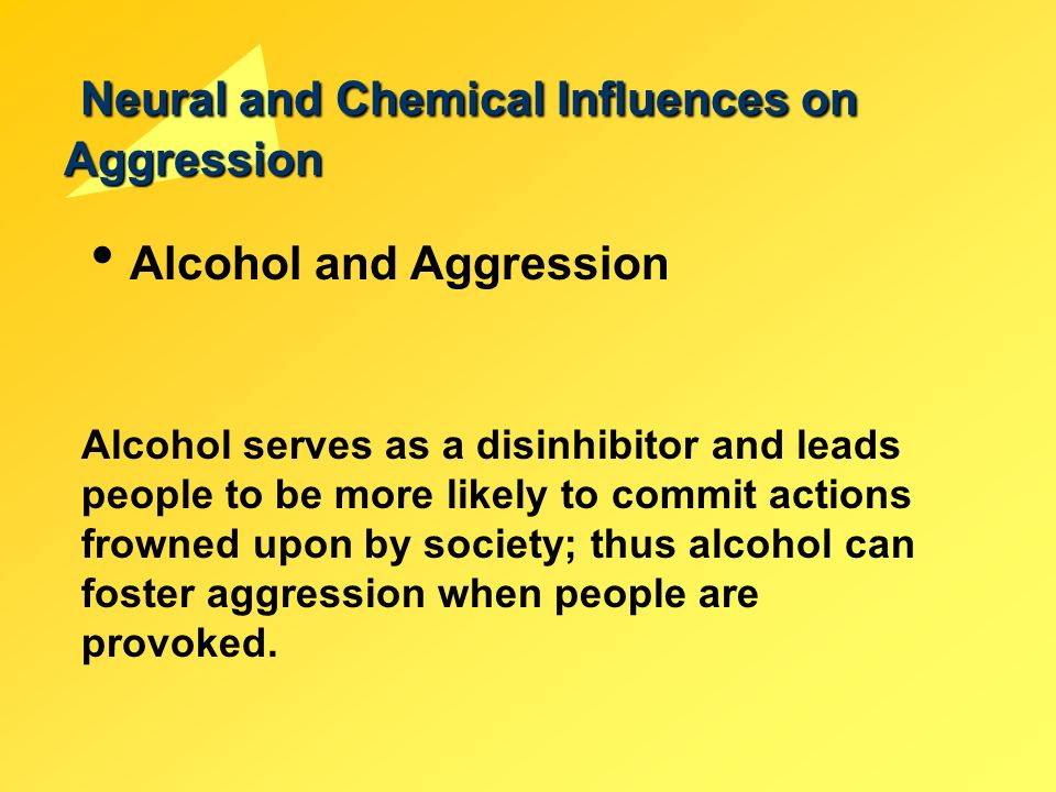 essay on alcohol and aggression Alcohol and drugs alter the state of mind which opens the window to essay on aggression essay on aggression 876 words | 4 pages essay on dealing with.