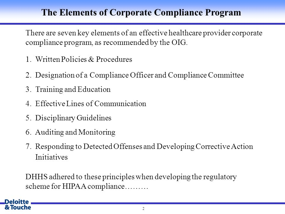 Auditing and monitoring for hipaa compliance ppt video online download - Corporate compliance officer ...