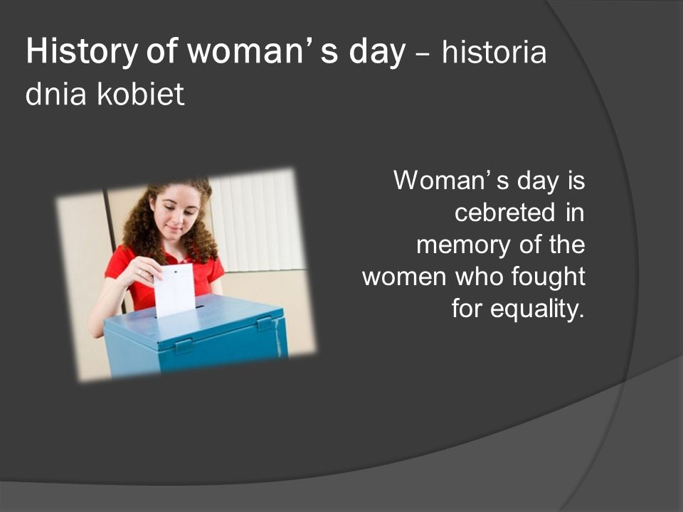 History of woman' s day – historia dnia kobiet