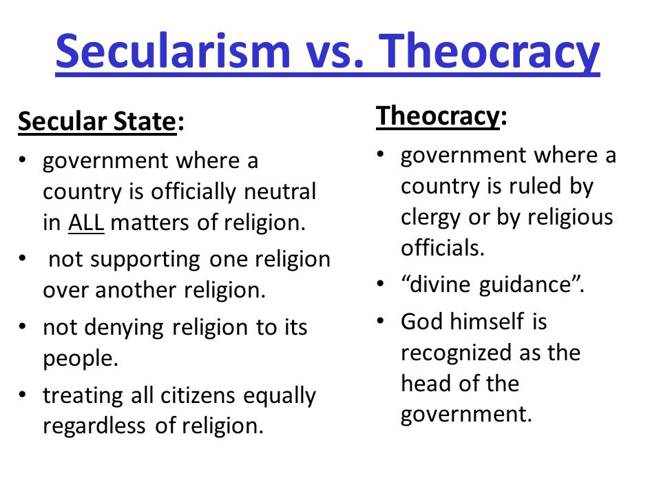 secularism in state Secularism is neutrality towards all religion – including atheism from this it appears to follow necessarily that the state that a secular state in fact.