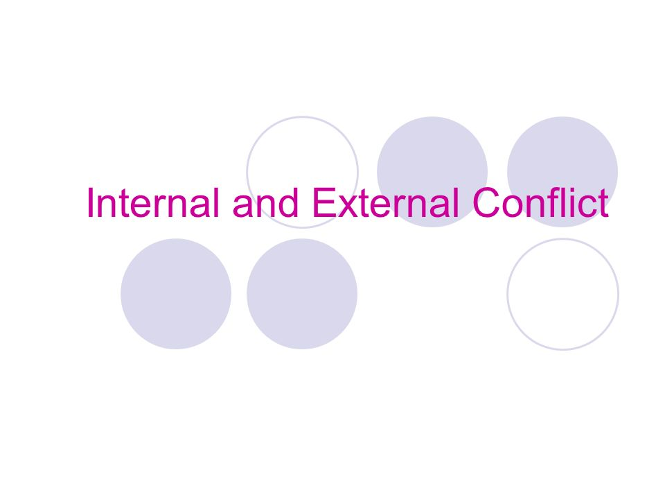 internal and external conflict essay With macbeth, shakespeare has crafted a character that falls under immense pressures from various sources these opposing forces create internal conflict with macbeth as he is torn between right and wrong, ambition and loyalty.