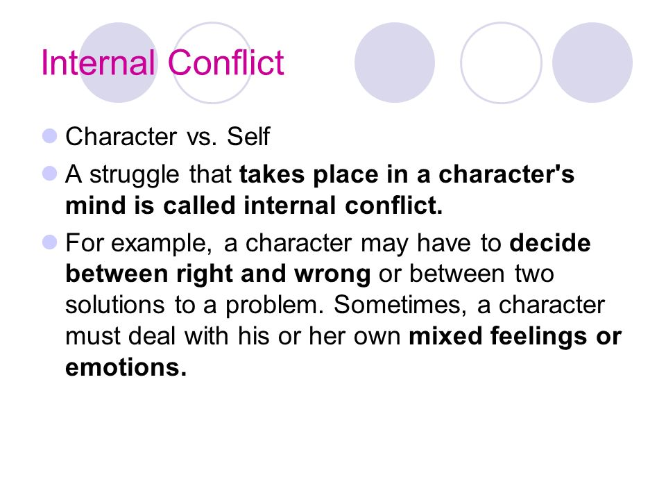 Internal and External Conflict - ppt download