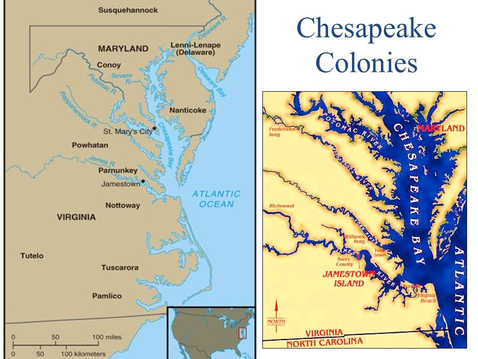new england and chesapeake colonies