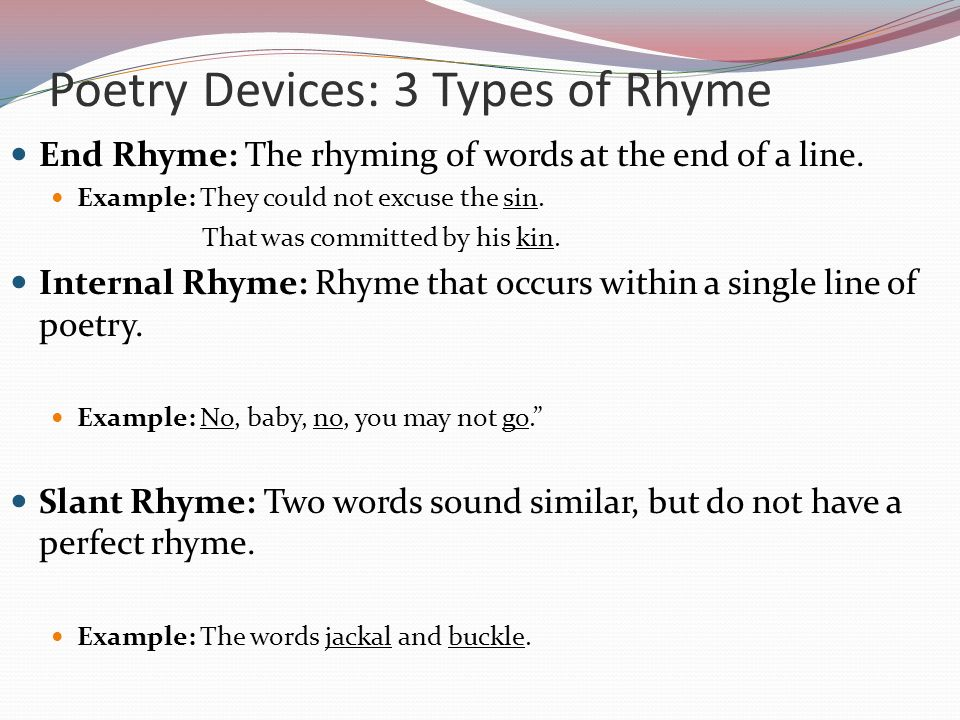 Poetry Structure And Rhyme Lessons Tes Teach