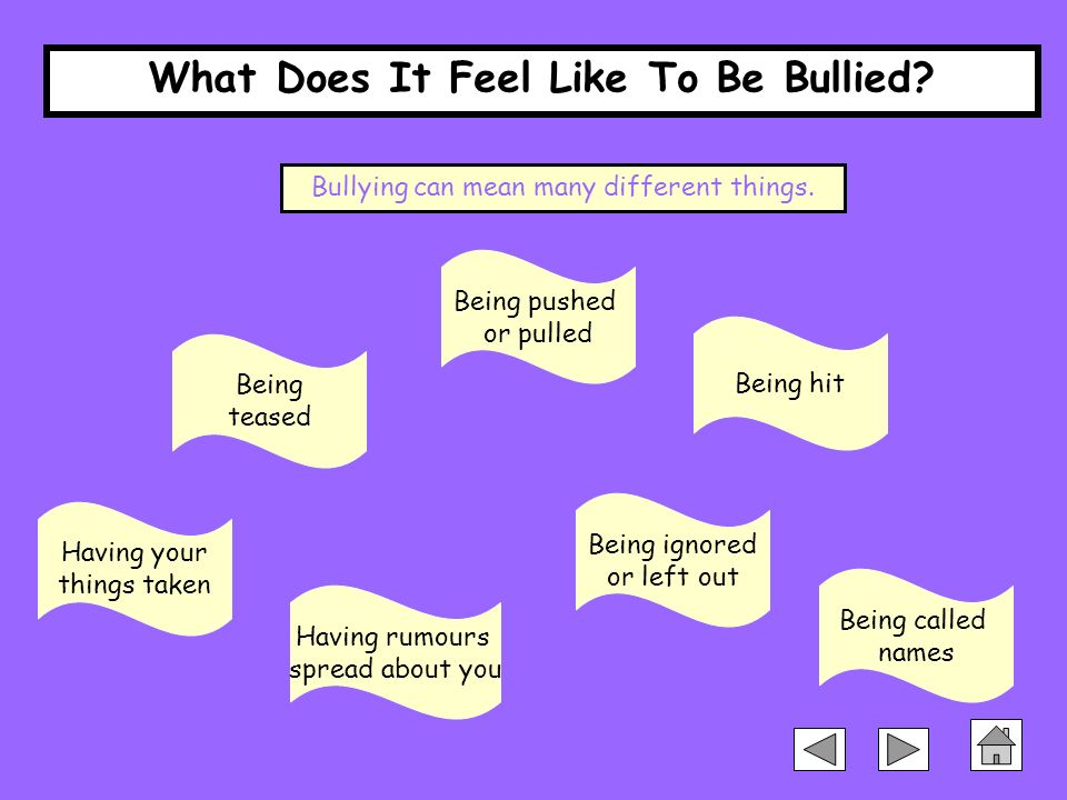If You Feel Like You Are Being: What Does It Feel Like To Be Bullied?
