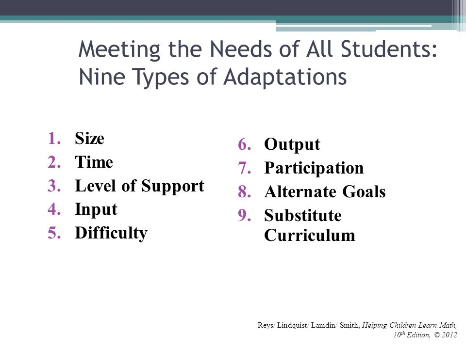 meeting the learning needs of all the children essay Meeting the literacy needs of struggling readers in the early elementary years presentation for the summer institute  selected to match the goals and needs of the children  and activities to foster learning of all children evaluating the effectiveness of our instruction.