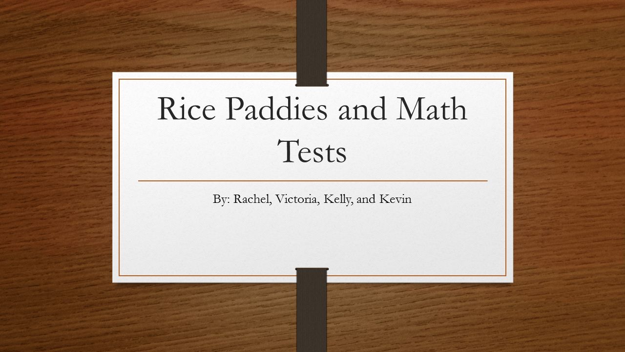 rice paddies and math tests essay