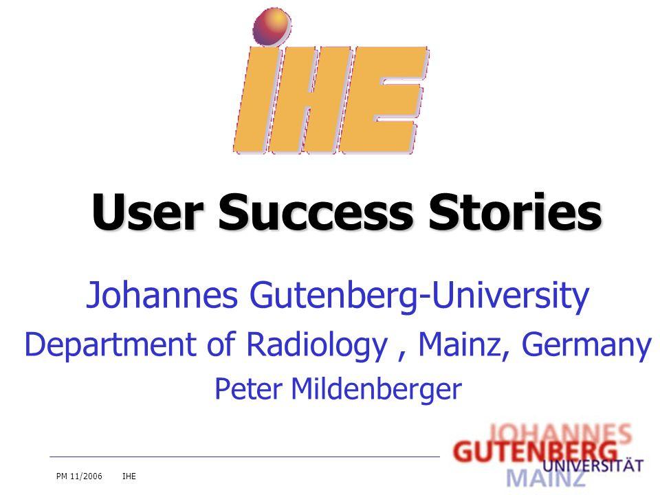 User Success Stories Johannes Gutenberg-University