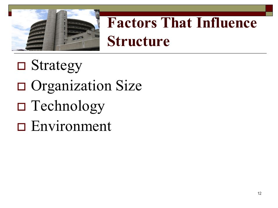 Factors That Influence Structure