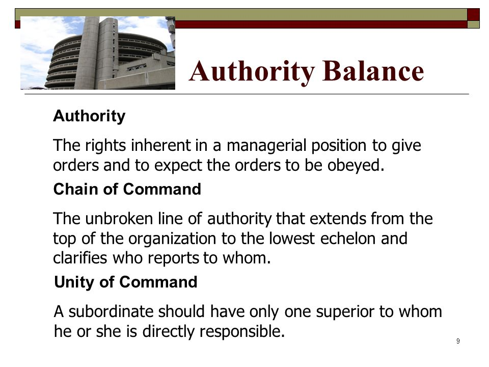 Authority Balance Authority